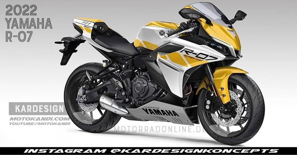 Hình ảnh dự đoán về Yamaha R7 2021