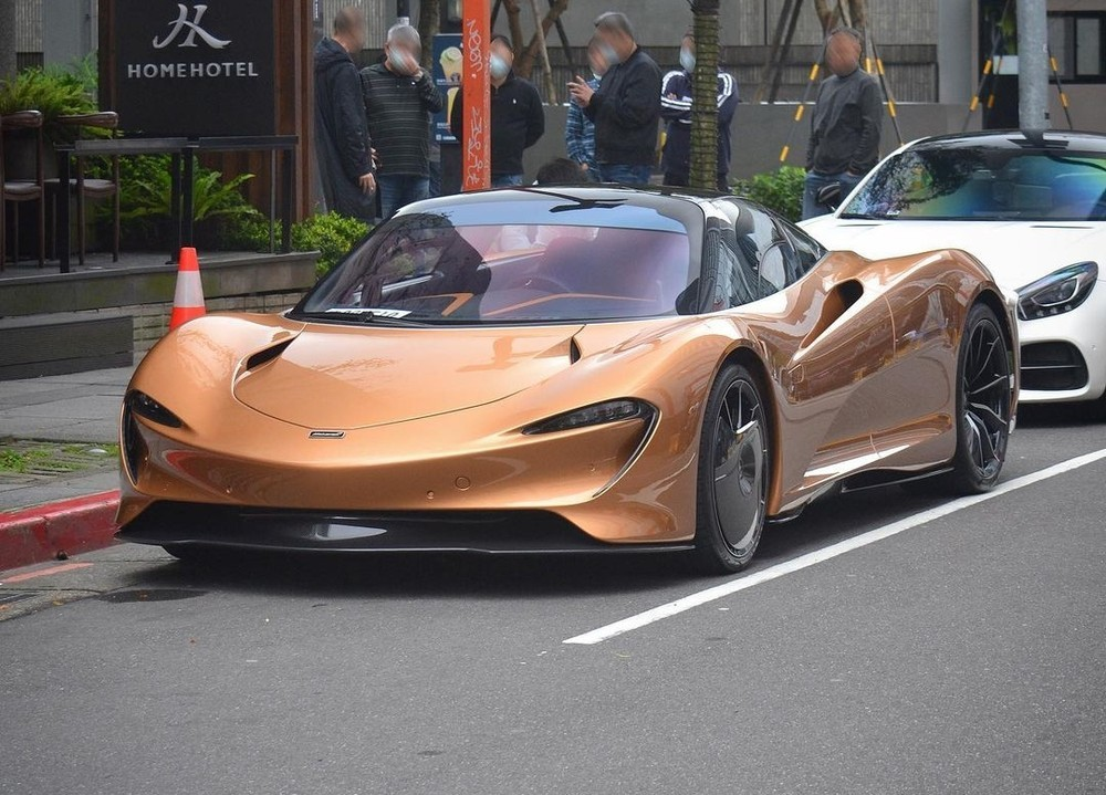 McLaren Speedtail đầu tiên đến Đài Loan với bộ áo nâu đậm