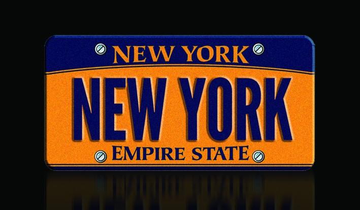 Đây là tấm biển kiểm soát có chữ New York hợp pháp, độc nhất ở tiểu bang New York