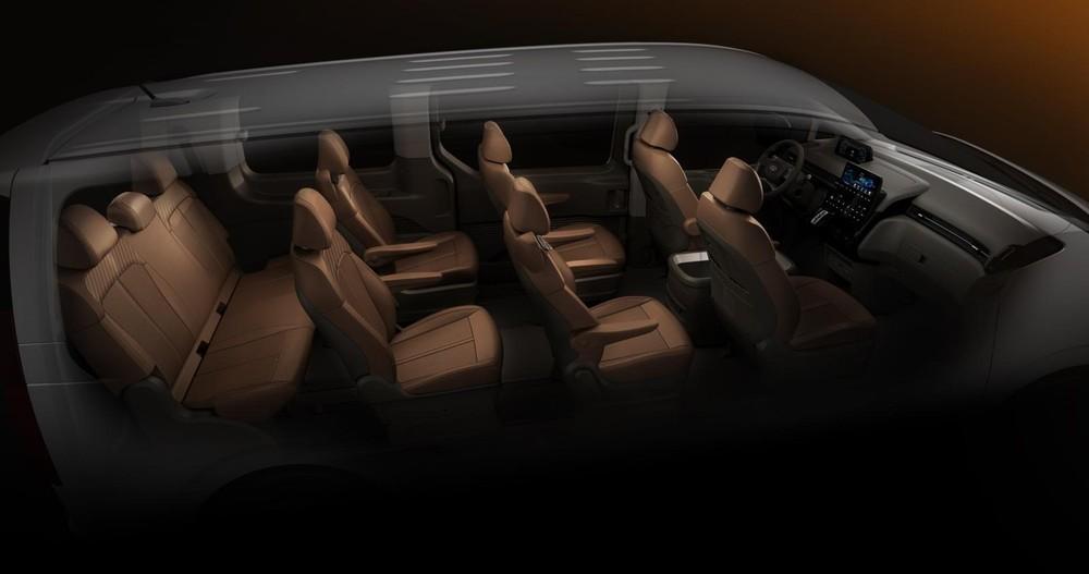 Hyundai Staria với cấu hình ghế 9 chỗ
