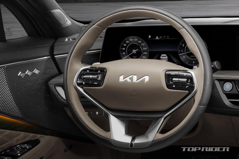 Kia K8 dùng vô lăng giống xe sang Genesis của Hyundai