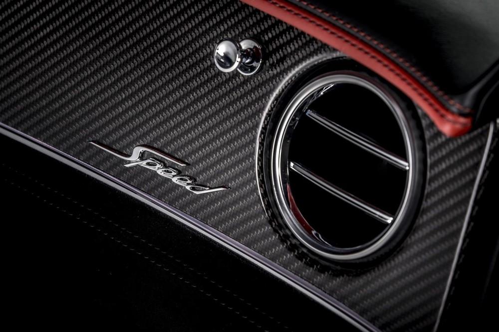 Chữ Speed trên mặt táp-lô của Bentley Continental GT Speed 2021