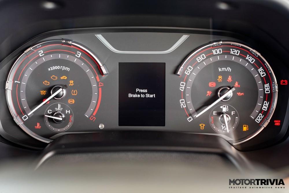 Bảng đồng hồ của MG Extender 2021