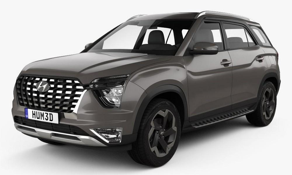Hyundai Alcazar 2021 rò rỉ ảnh nóng
