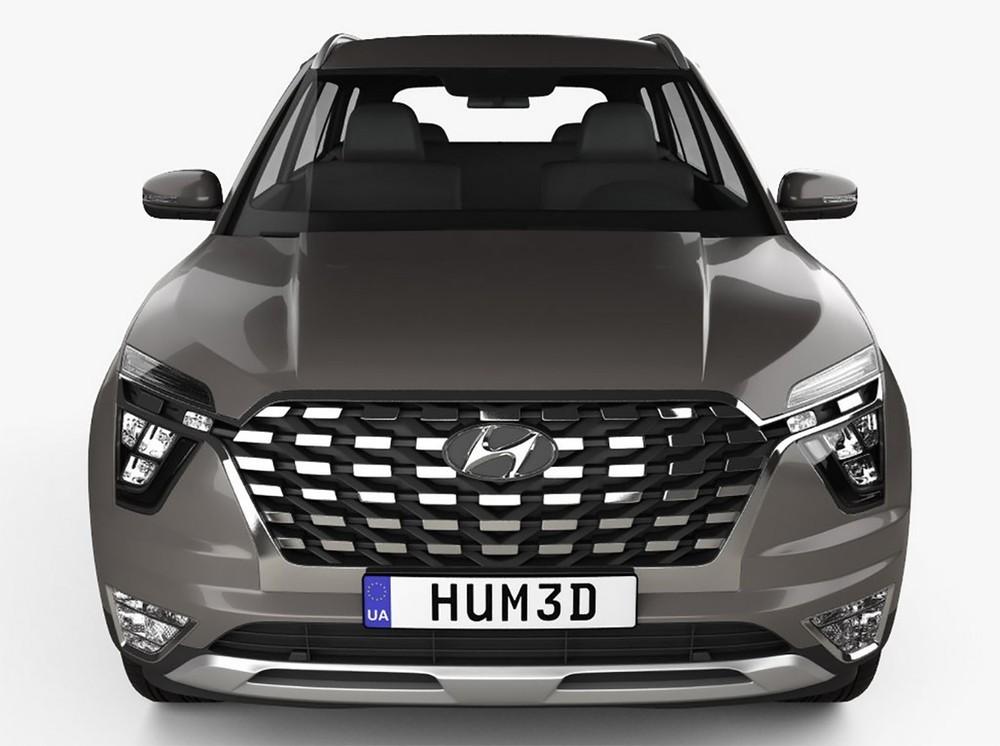 Cận cảnh thiết kế đầu xe của Hyundai Alcazar 2021