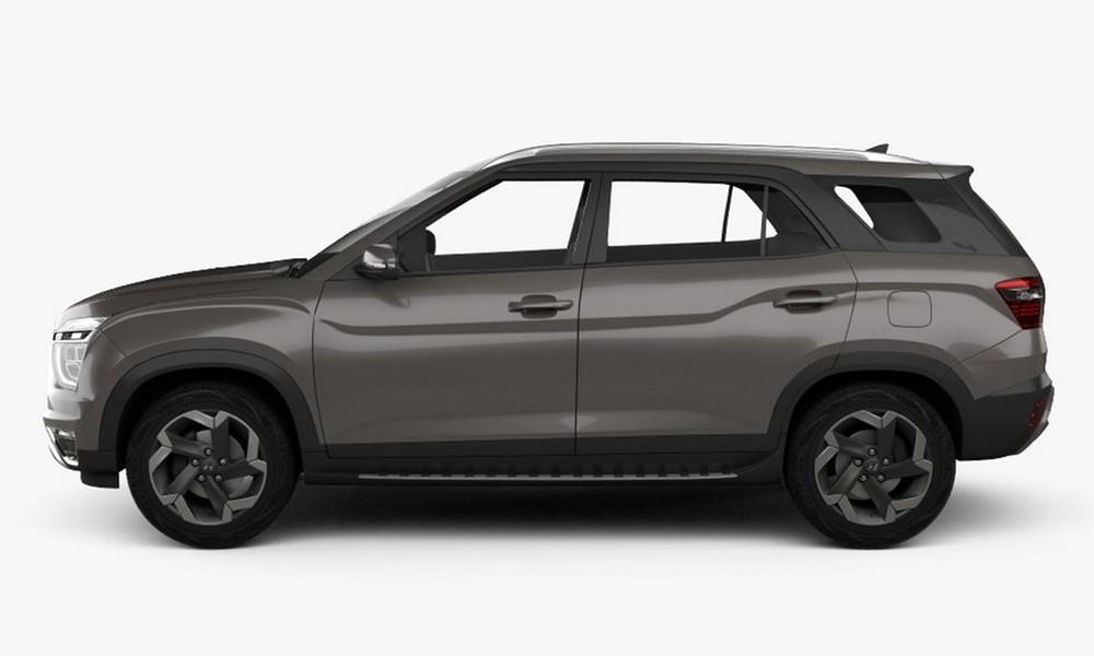 Hyundai Alcazar 2021 nhìn từ bên sườn xe