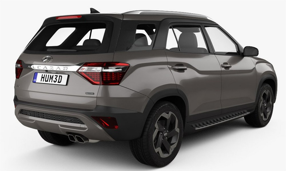 Thiết kế đằng sau của Hyundai Alcazar 2021
