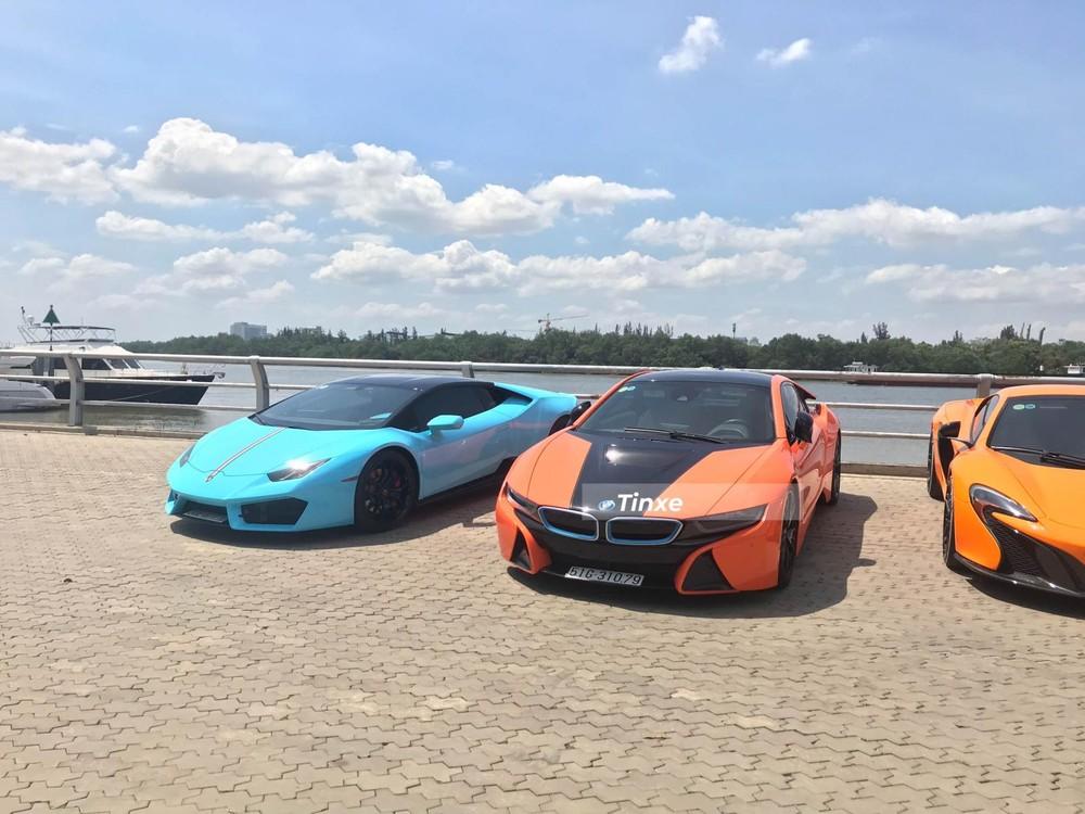 Lamborghini Huracan LP580-2 cùng BMW i8