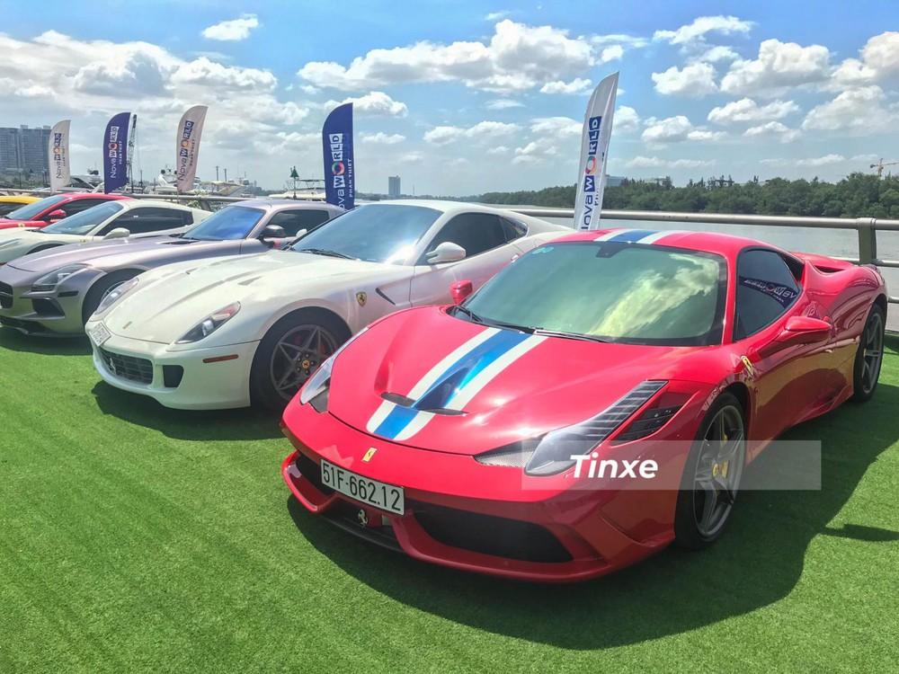 Ngoài 488 GTB, trong đoàn siêu xe của nhóm Viet Rally còn có chiếc siêu xe Ferrari khác bao gồm các phiên bản như là 458 Spider, 599 GTB, 458 Speciale, F12 Berlinetta hay 488 Pista Spider.