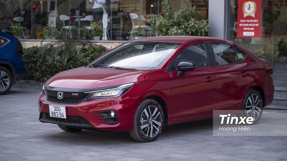 Giá bán cao nhất của Honda City RS 2021 cao hơn giá hiện tại của VinFast VF e34 9 triệu đồng.