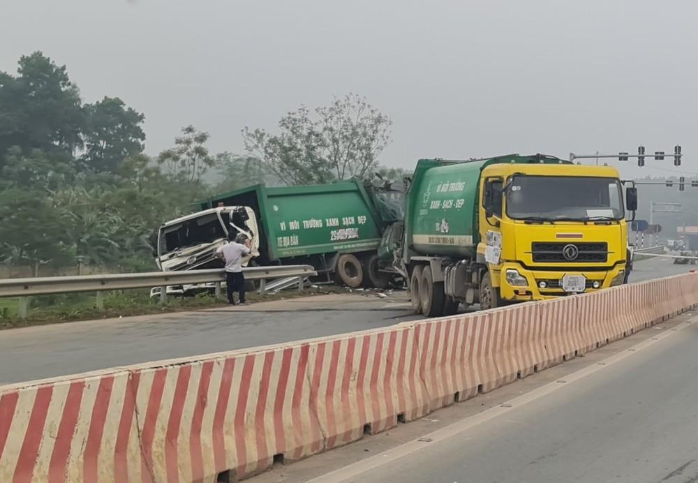 Vụ tai nạn làm giao thông qua đây gặp khó khăn
