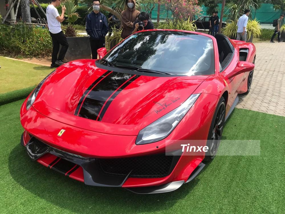 Cận cảnh nhan sắc của Ferrari 488 Pista Spider độc nhất Việt Nam