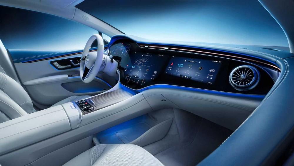 Nội thất của Mercedes EQS 2022 hứa hẹn mang tới một trải nghiệm hoàn toàn khác biệt