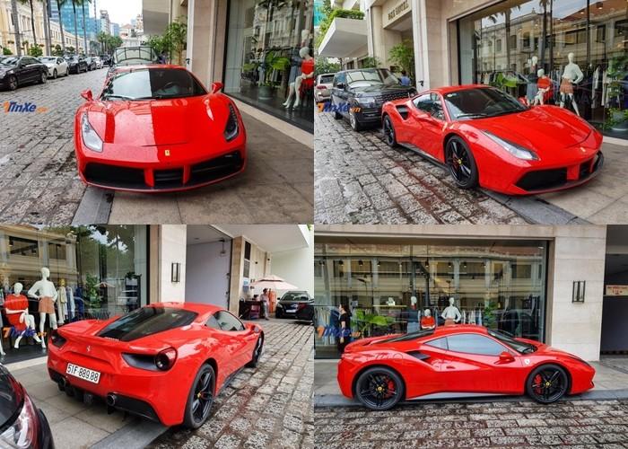Siêu xe Ferrari 488 GTB mới được Tuấn Hưng bán lại