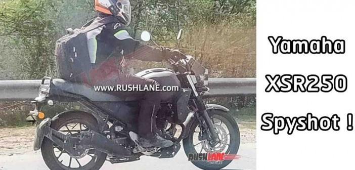 Hình ảnh được chụp lại trên đường chạy thử của Yamaha XSR250