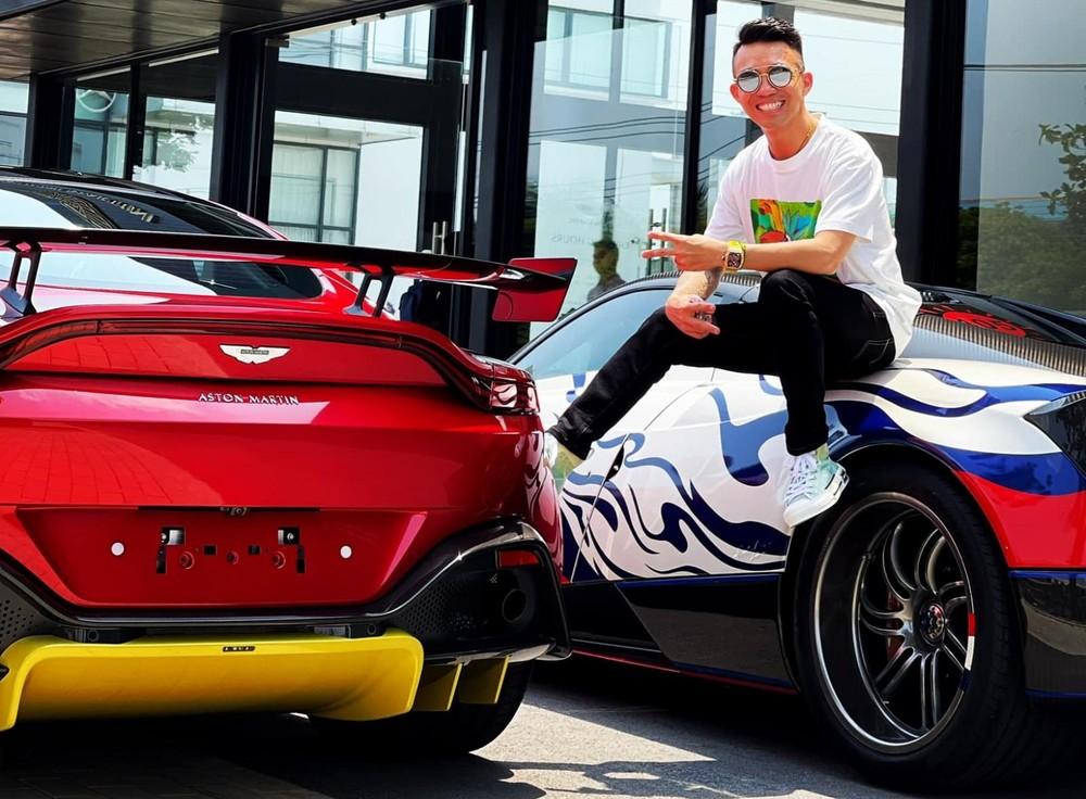 Minh Nhựa từng lái Pagani Huayra ra đại lý Aston Martin để xem mắt V8 Vantage