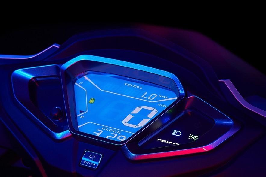 Bảng đồng hồ LCD trên Honda NX125