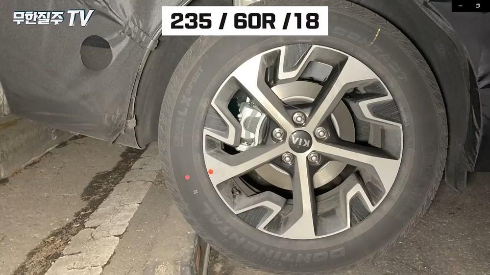 Vành 18 inch của Kia Sportage 2021