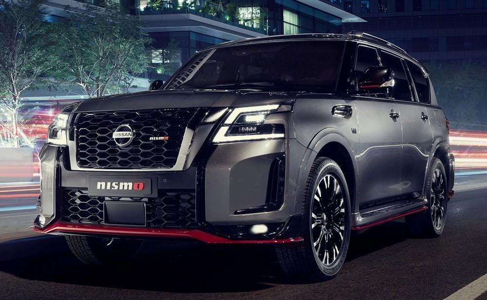 Cận cảnh đầu xe của Nissan Patrol Nismo 2021