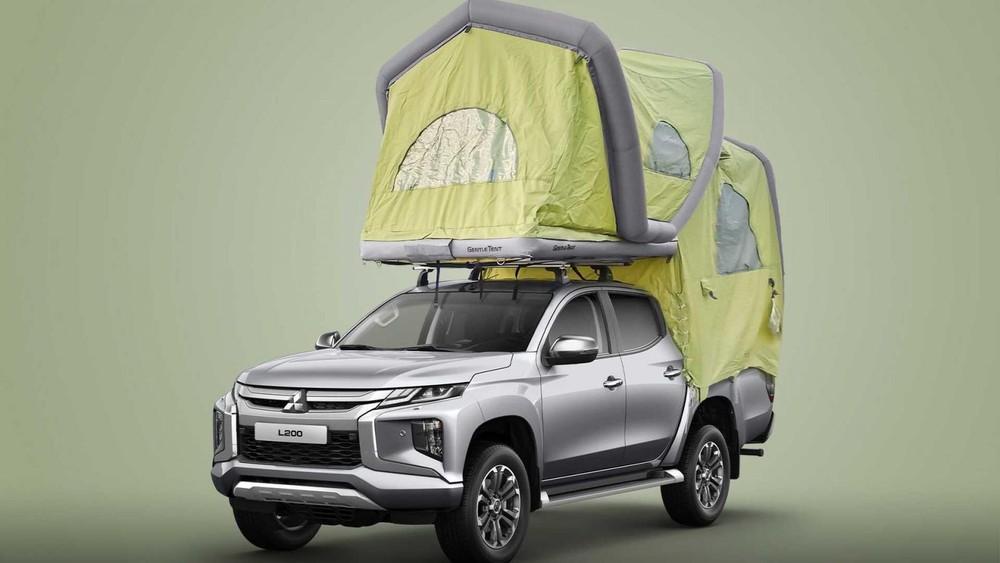 Xe bán tảiMitsubishi L200 trở thành xe cắm trại lý tưởng với lều bơm hơi GT Pick Up