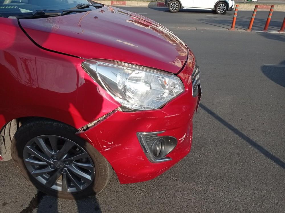 Còn đây là thiệt hại của xe Mitsubishi Attrage
