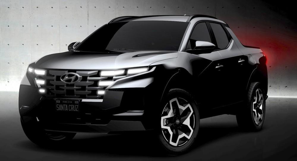 Hyundai Santa Cruz 2022 được dự đoán là dùng khung gầm của Santa Fe
