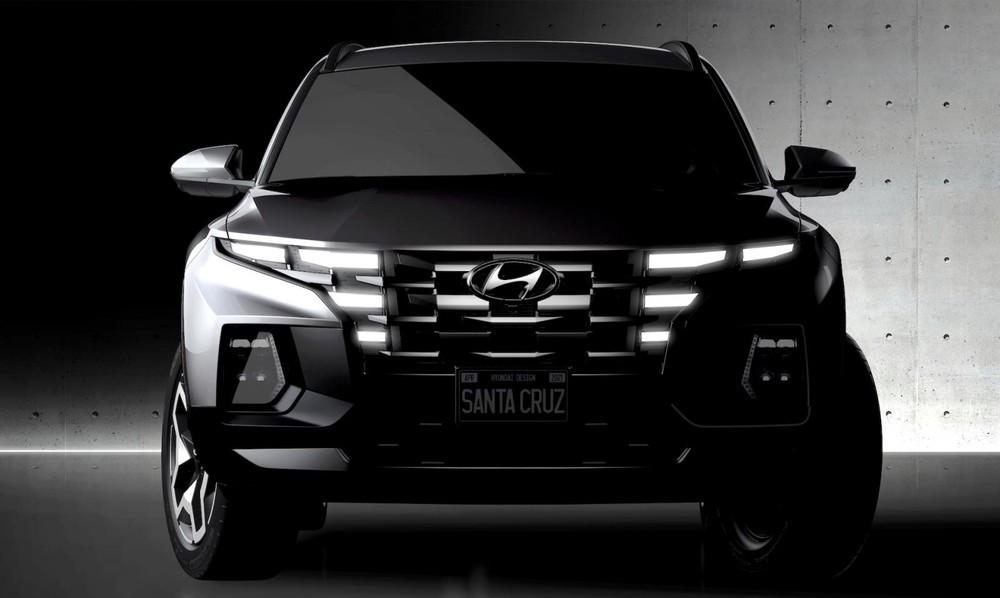 Thiết kế đầu xe giống Tucson mới của Hyundai Santa Cruz 2022