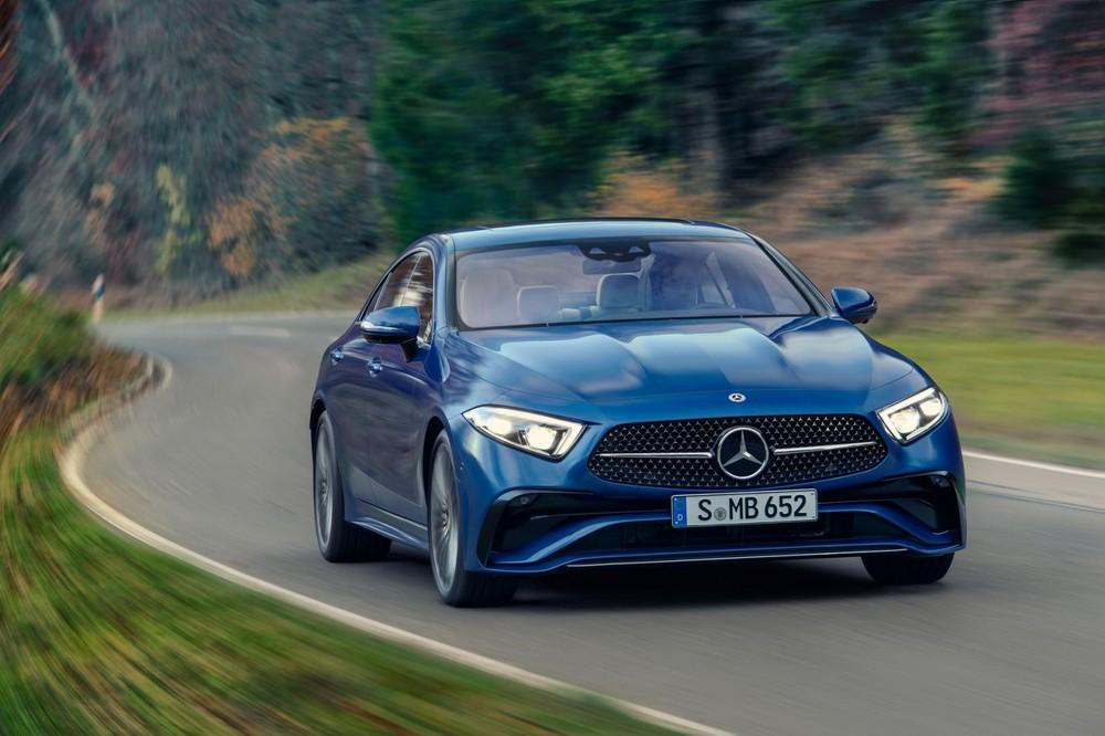 Mercedes-Benz CLS 2021 màu xanh dương mới