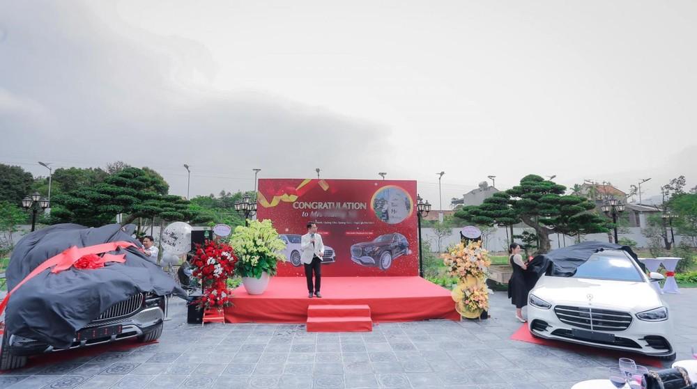 Buổi lễ sinh nhật của chủ vườn lan đột biến Quảng Ninh với quà tặng từ người chồng mua cho vợ là Mercedes-Maybach GLS 600 và Mercedes-Benz S500 2021