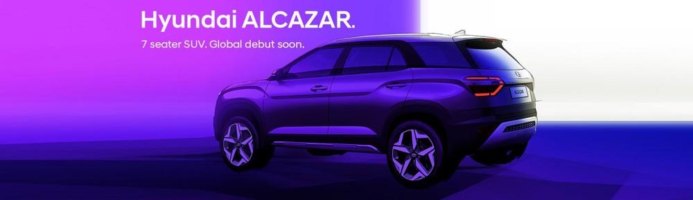 Hyundai Alcazar 2021 nhìn từ phía sau