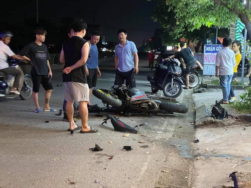 Chiếc xe Honda CBR600RR hư hỏng nặng sau tai nạn