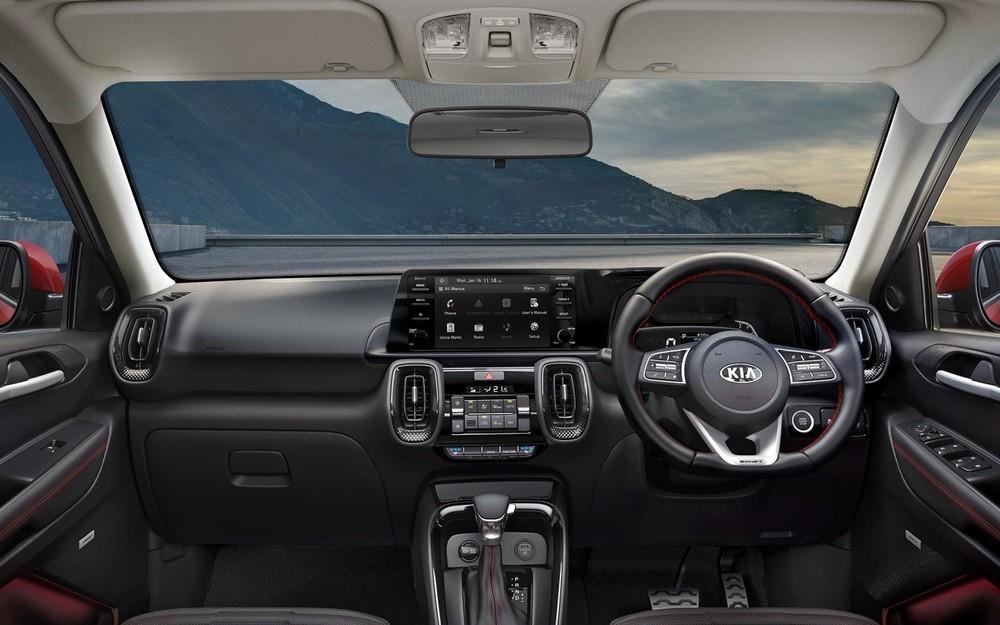 Kia Sonet bản 5 chỗ tại Indonesia dùng màn hình cảm ứng 8 inch