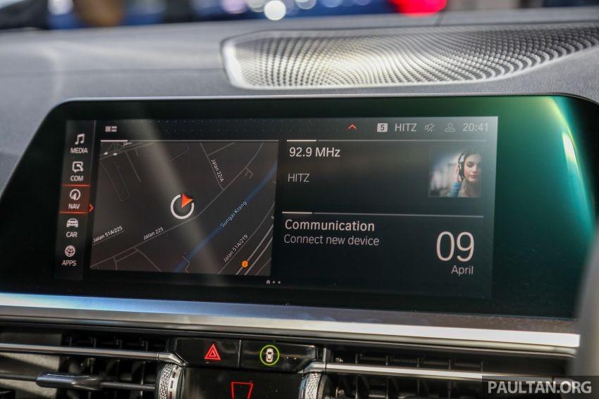 Màn hình trung tâm của BMW 3-Series Li 2021