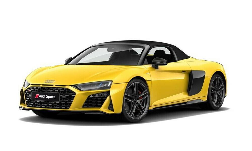 Siêu xe Audi R8 V10 Spyder 2021 đang nhận được sự quan tâm của giới mê xe trong nước