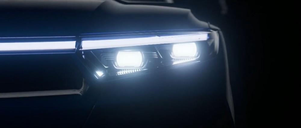 Cụm đèn chiếu sáng trước của VinFast VF e36 sẽ có công nghệ Matrix LED.