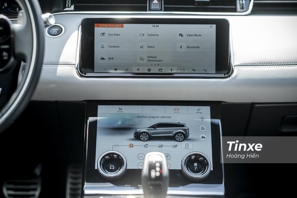 Hệ thống màn hình Touch Pro Dou của Range Rover Evoque