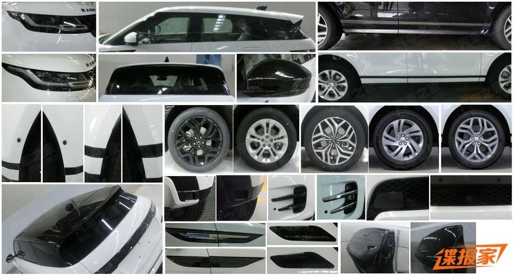 Các chi tiết thiết kế ngoại thất của Range Rover Evoque LWB