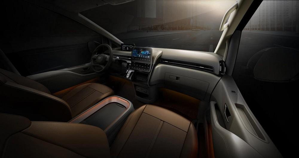 Nội thất của Hyundai Staria 2021 bản cao cấp