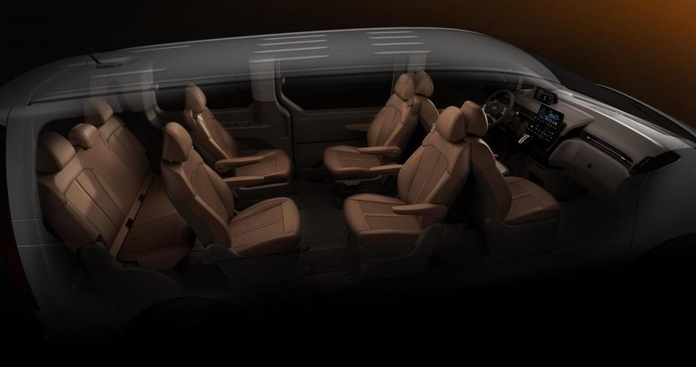 Hàng ghế thứ 2 xoay về phía sau của Hyundai Staria 2021 bản 9 chỗ