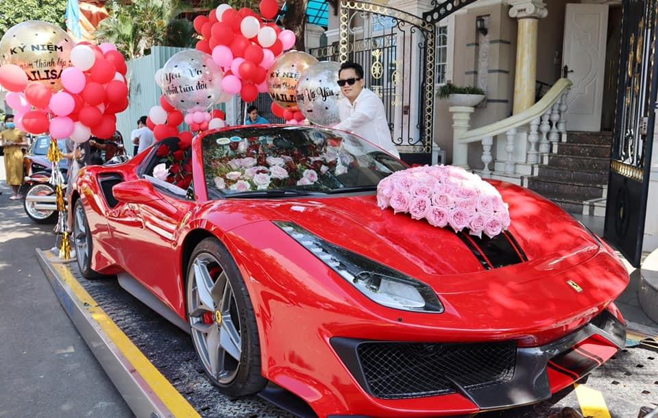 Hoàng Kim Khánh mua tặng vợ Ferrari 488 Pista Spider vào cuối năm 2020