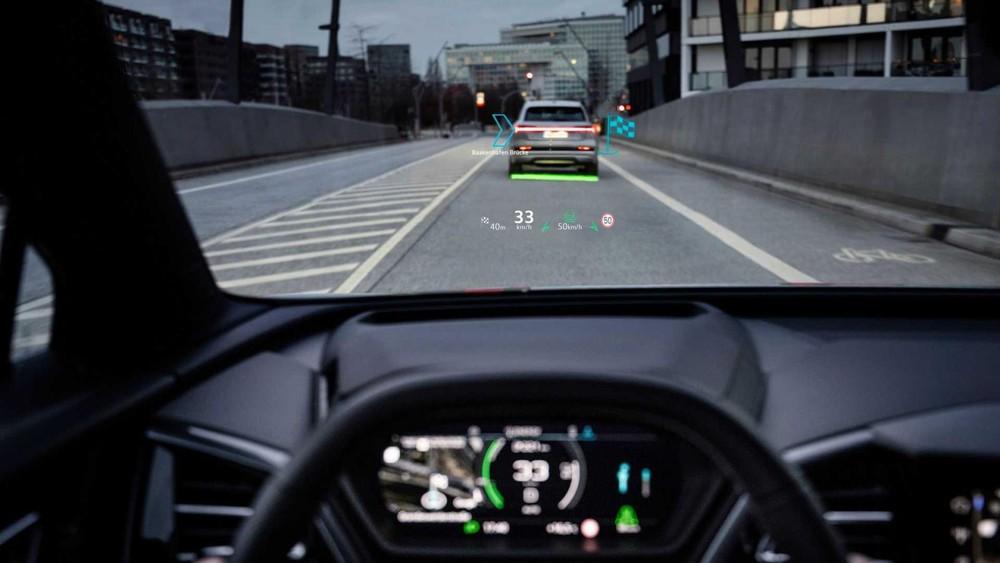 Màn hình hiển thị thông tin kính lái của Audi Q4 E-Tron và Q4 Sportback E-Tron 2022