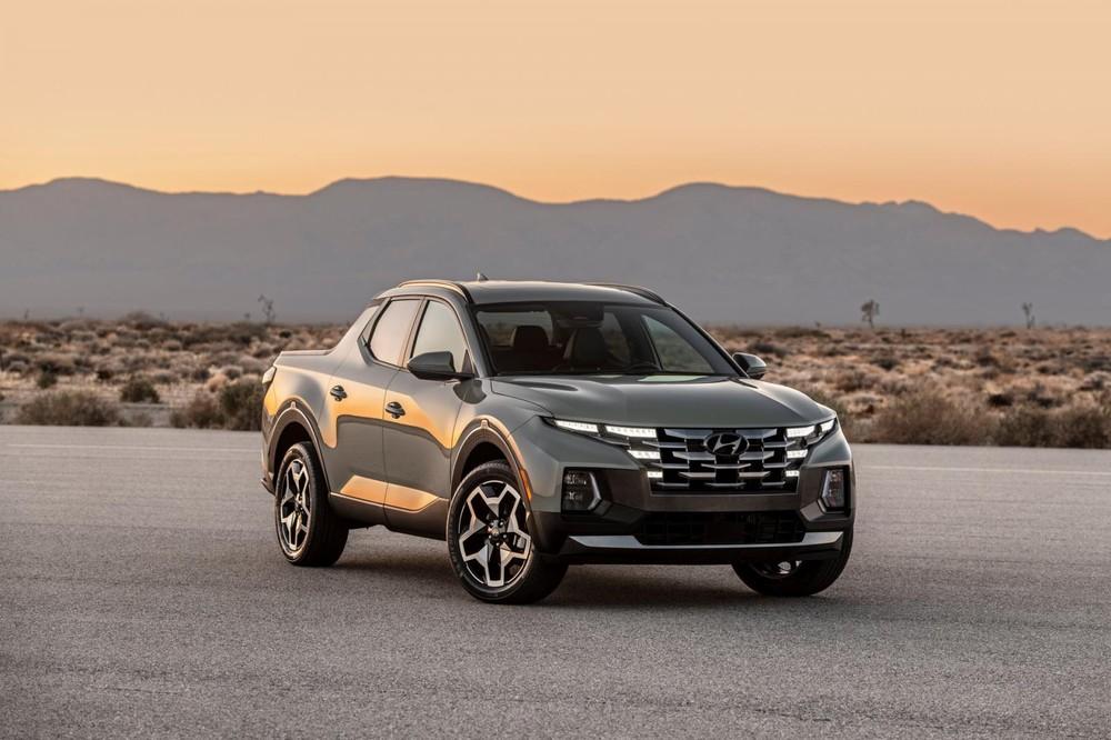Đèn pha nằm thấp của Hyundai Santa Cruz 2022