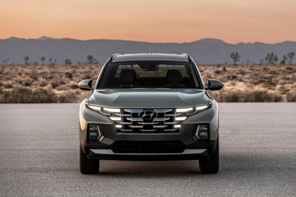 Hyundai Santa Cruz 2022 có thiết kế đầu xe giống Tucson 2021