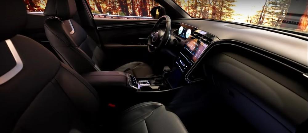 Nội thất bên trong Hyundai Santa Cruz 2022