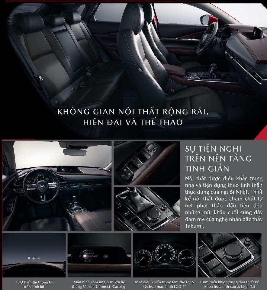 Các trang bị phần nội thất của Mazda CX-30.