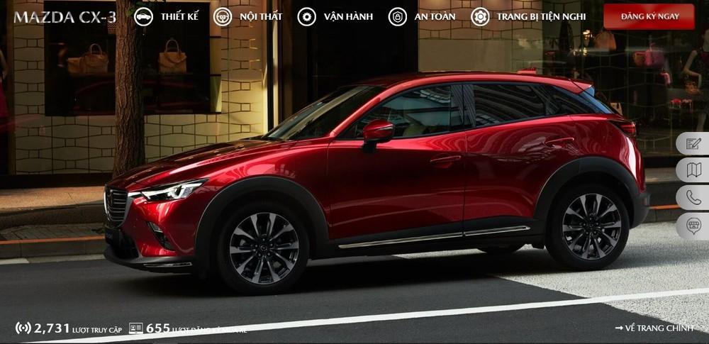Mazda Việt Nam đã có trang web riêng cho bộ đôi Mazda CX-3 và CX-30 để khách hàng tham khảo trước thềm ra mắt.