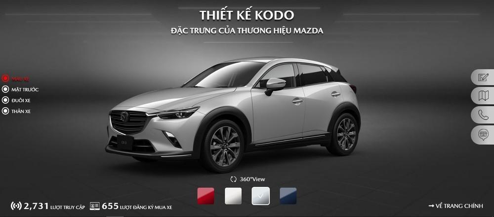 Mazda CX-3 sẽ có 4 lựa chọn màu sắc gồm: đỏ, trắng, xám và xanh dương.