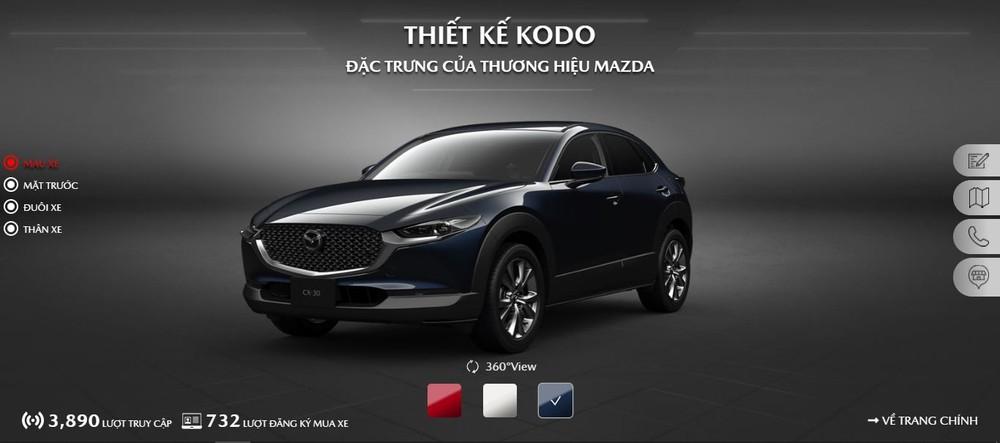 Mazda CX-30 chỉ có 3 màu: đỏ, trắng và xanh dương.