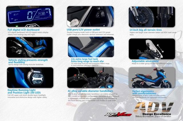 Xe sở hữu nhiều trang bị hiện đại so kè cùng Honda ADV 150