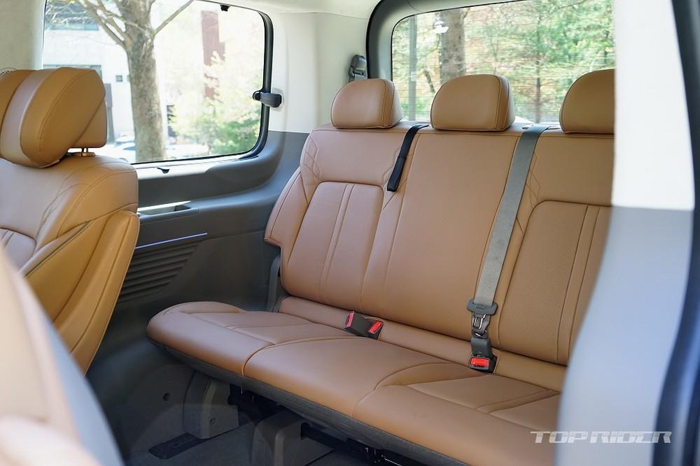 Hàng ghế thứ 3 của Hyundai Staria 2021